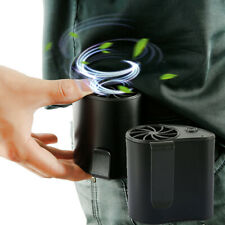 Portable Rechargeable Waist Hanging Dual Cooling Mini Fan Personal Outdoor Fun