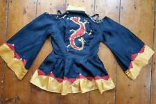 Vintage Theater Dance Costume Jacket Sequin Dragon Cutout Shoulders Bell Sleeves