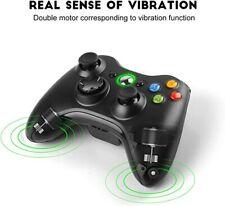 Nuevo controlador XBOX 360 Wireless Gamepad, negro inalámbrico vibración.