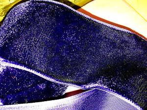"""Vintage 2"""" Velvet Ribbon Rayon Ultra violet Purple 1yd Made in France"""