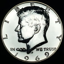 1969 S Kennedy Mint Proof Half Dollar ~ 40% Silver Clad Coinage ~ From Proof Set