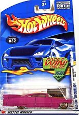 Hot Wheels 032 Custom '59 Cadillac, 2002 First Editions 20/42, R&W Car/Card Mint