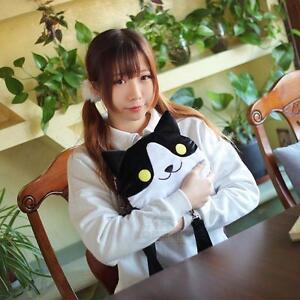 Anime Neko Atsume Cute Cats Ear Plush Toy Shoulder Bag Backpack Plush 3 Colors
