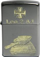 Original Zippo Sturmfeuerzeug Leopard 2 A4 Kampfpanzer (Kpz) und Eisernes Kreuz