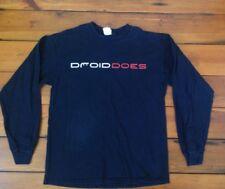 "Droid Does Android Motorola Verizon Google Phone Long Sleeve T-Shirt L 41"" Chest"