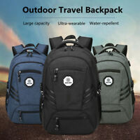 "Waterproof 17"" Men Backpack Laptop Bags Travel School Bookbag With USB Port"