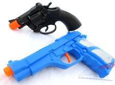 Toy Guns Set - Blue 9MM Pistol & Snub-nosed Revolver Cap Gun
