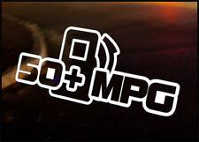 50+ MPG car vinyl JDM decal vehicle bike graphic bumper sticker VW Funny