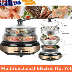 Multi Cooker Vegetable Steamer Pot Kitchen Electric Grill Fryer Rice Slow Cooker