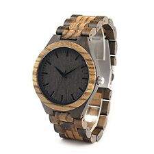Handmade Wooden Quartz Wrist Watch BOBO BIRD D30 Men Bamboo Wood Links