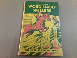 Vintage Word Family Spellers Hard Cover Book. Grade 6. Reading And Writing
