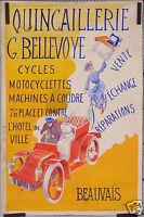 BAUD 1903 MAQUETTE ORIGINALE GOUACHE POUR LA QUINCAILLERIE G BELLEVOIE