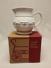 Longaberger Pottery Small Juice Pitcher Classic Blue East Liverpool Ohio w/ Box