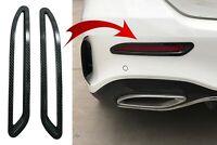 Rear Bumper Reflectors Frame Cover for Mercedes V177 Sedan Sport Line 18+ Carbon