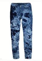 Levi's Girls 710 Super Skinny Fit Stretch Dark Printed Tie Dyed Jeans 16 Regular