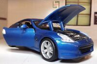 G LGB 1:24 Scale Blue Nissan 370Z 3.7 V6 2009 Detailed Maisto Diecast Model Car