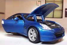 G LGB 1:24 Scale Blue Nissan 370Z 3.8 V6 2009 Detailed Maisto Diecast Model Car