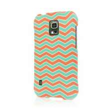 MPERO SNAPZ Series Rubberized Case for Samsung Galaxy S5 Active - Mint Chevron