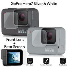 Anti-scratch Tempered Glass Screen Protector GoPro Hero7 White Silver Action Cam