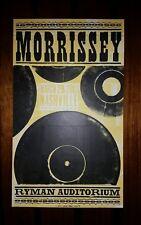 MORRISSEY Ryman HATCH SHOW PRINT Nashville 2013 Tour Poster