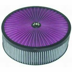 """Racing Power (Rpc) R2409x Air Filter Assembly Black 14""""X4"""" Round Super Flow"""