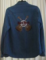 Men's Vintage Hard Rock Cafe Est Denim 1971 Jean Shirt Sz L  La Jolla
