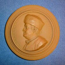 1777 Benjamin Franklin Terra Cotta Plaque / Medal By Nini. Guaranteed Original.
