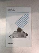 Motorola Manual for Maxtrac 800 Mobile Radios