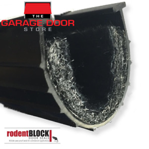 GARAGE DOOR RODENT-PROOF WEATHER SEAL - 6 METER FITS ROLLER AND SECTIONAL DOORS