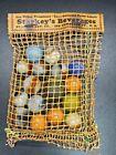 Vitro Agate Marbles Original Starkey's Beverages Klicker Advertising Mesh Bag