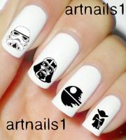 Star Wars Nails Darth Nail Art Water Decals Stickers Manicure Salon Mani Polish