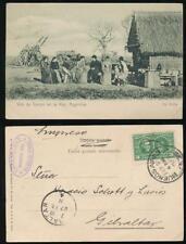 ARGENTINA to GIBRALTAR 1911 PPC VIDA DE CAMPO + LARGE CIRCLE RECEIVER +LENZ OVAL