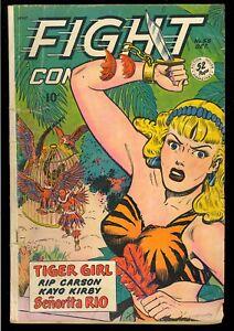 Fight Comics #58 Unrestored Golden Age Fiction House Jungle 1948 GD+