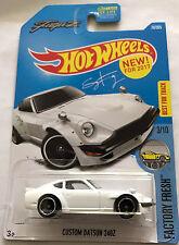 ToKaLand Hot Wheels 2017 76/365 Factory Fresh White Custom Datsun 240Z
