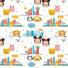 100% Cotton Patchwork Fabric Springs Creative Disney Tsum Mickey Mouse Travel