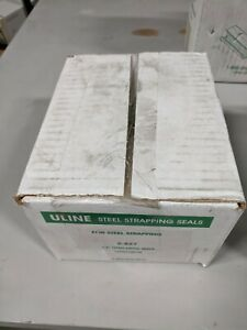 2 Boxes ULine Seals for Steel Strapping S-827 Open