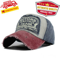 High Quality Patchwork Washed Worn out Grunge Jeans style  Unisex Baseball Cap