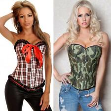 1b2b814fede Fashion Sexy Burlesque Camo  Tartan Corset- PLUS XL to 5X