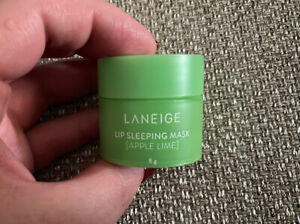 "BN "" LANEIGE "" TRAVEL SIZE APPLE LIME LIP SLEEPING MASK BALM - 8G !"