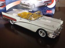 1:18 Diecast 1958 Buick Limited Wells Fargo Convertible By SunStar Platinum Rare