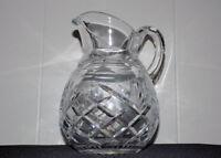 "Galway Irish cut crystal pitcher 7"" tall water"