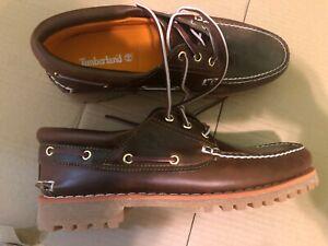 Timberland Men's Classic Boat 3-eye Handsewn Lug Shoes 6500A NIB