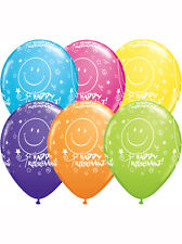 "Retail 6ct Pack 11"" Retirement Smile Face Assortment Qualatex Licensed Balloons"