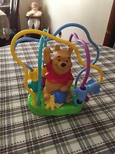 Winnie the Pooh Wire Bead Maze Colorful Safe Childrens Toy Plastic GUC