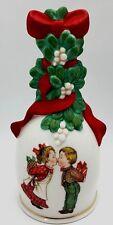 Vintage Avon Christmas Porcelain Hand Bell