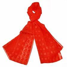 Écharpes et châles rouges en mousseline pour femme