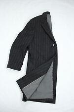 "HUGO BOSS ""Stratus"" men's Wool Blend Gray Striped Top Coat SIZE US 44/EU 54"