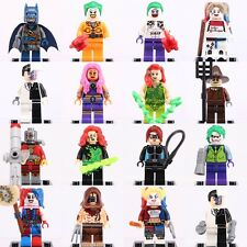 16Pcs Suicide Squad DC Comics Super Hero Harley Quinn Two Face Figure Fits Lego