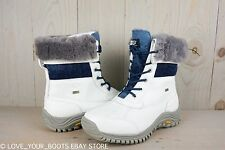 UGG ADIRONDACK II WHITE BLUE OMBRE ALL WEATHER BOOTS US 6 NEW