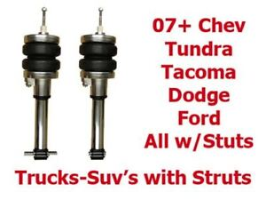 """Toyota Tundra Front Air Struts 2007-2018 Direct Bolton 3"""" Lifted Ride Height"""